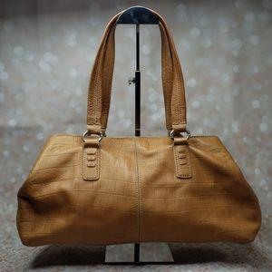 Singrid Olsen embossed leather satchel